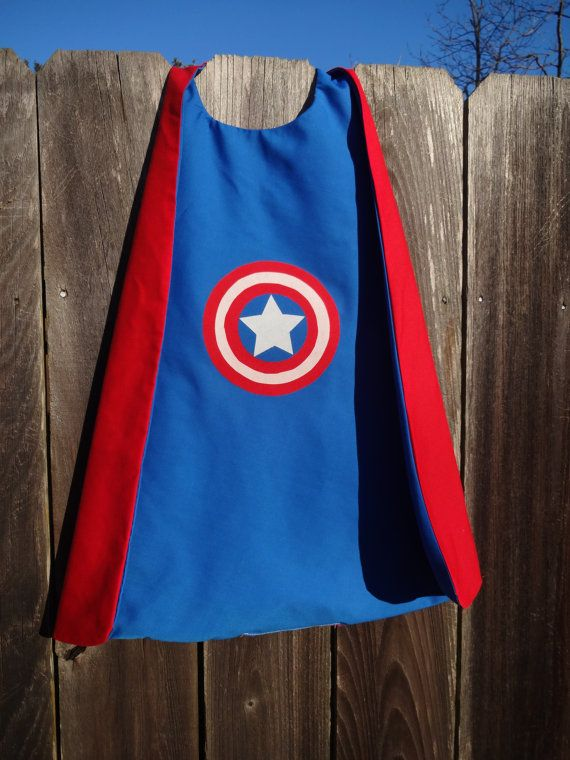 Captain America Cape Handmade and by SamanthaLeighDesigns on Etsy, $18.00