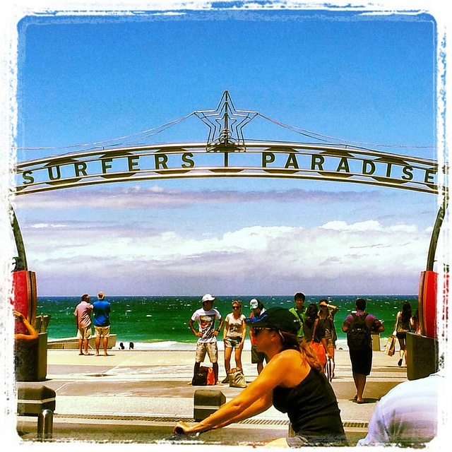 Australian Places and Event's - Surfers Paradise on the Gold Coast, QLD. Where the city meets the surf. Summer after Christmas. A favourite destination for tourists, with the beach, shopping, nightclubs and 5 star hotels overlooking the water. Only a 1hour drive from Brisbane by dgfoley, via Flickr
