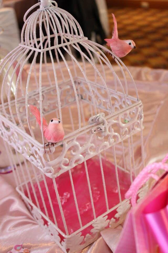 Bird Cage Decoration   Tweet Baby Shower   Girl shower ...