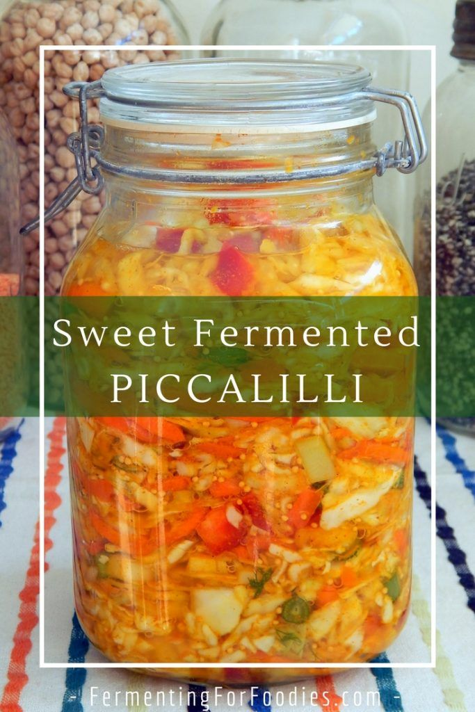 Fermented Piccalilli -Indian flavoured sauerkraut. salty or sweet