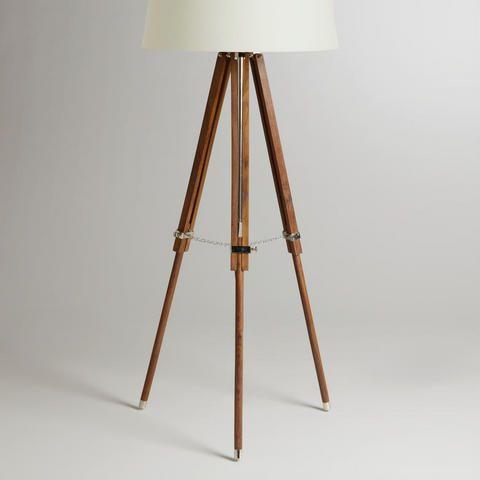 in corner by sofa  Telescope Floor Lamp Base | World Market
