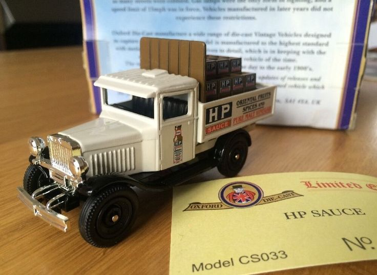Oxford Diecast HP Sauce Classic Chevrolet Truck 1:43 (no 24 of 1,500) | eBay