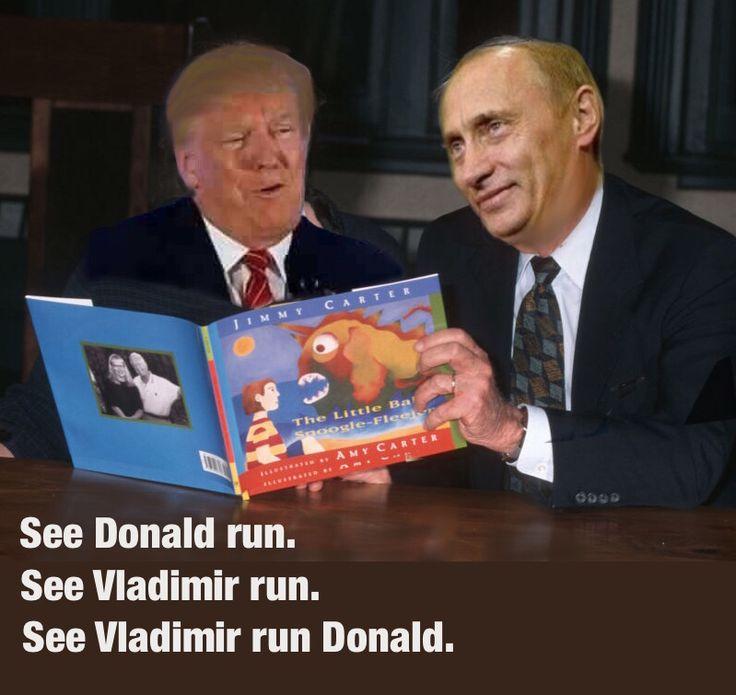 See Donald run. See Vladimir  run. See Vladimir run Donald.