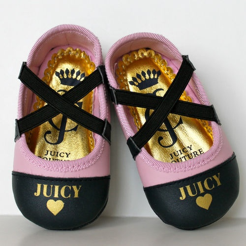 JUICY COUTURE Baby Girl Cute Pink Ballet Shoes 6-9 Months
