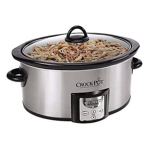 Crock-Pot® 4 qt. Count Down Slow Cooker with Built-in Timer Removable Ceramic Bowl