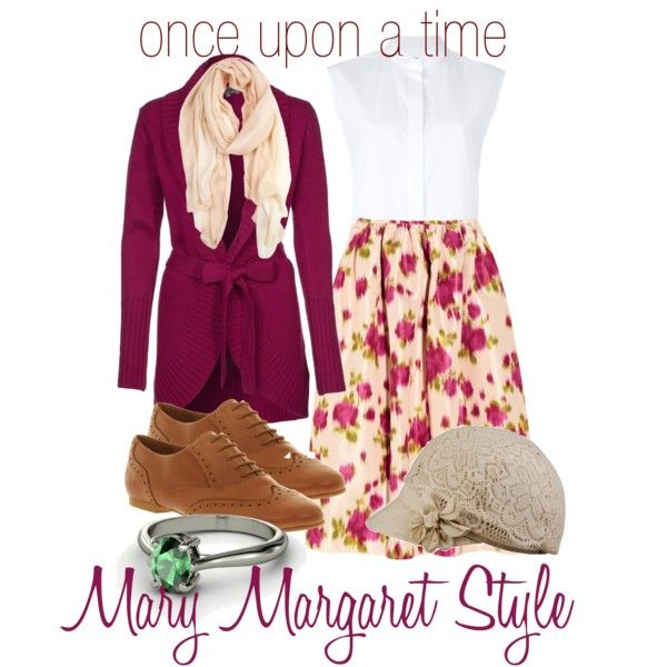 """get the look - mary margaret style"" by onceuponanovel on Polyvore"