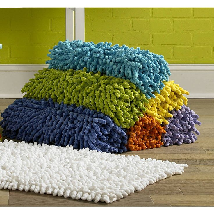 Superb Kassatex® Bambini Medium Bath Rugs Are Made In India Of 100% Cotton  Chenille.
