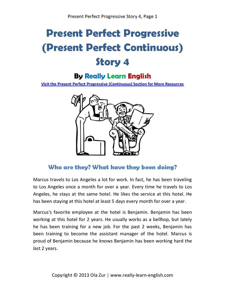 Look!! ~~~ Printable story and worksheet to practice the English Present Perfect Progressive (Continuous) Tense   Easy lesson planning for busy teachers