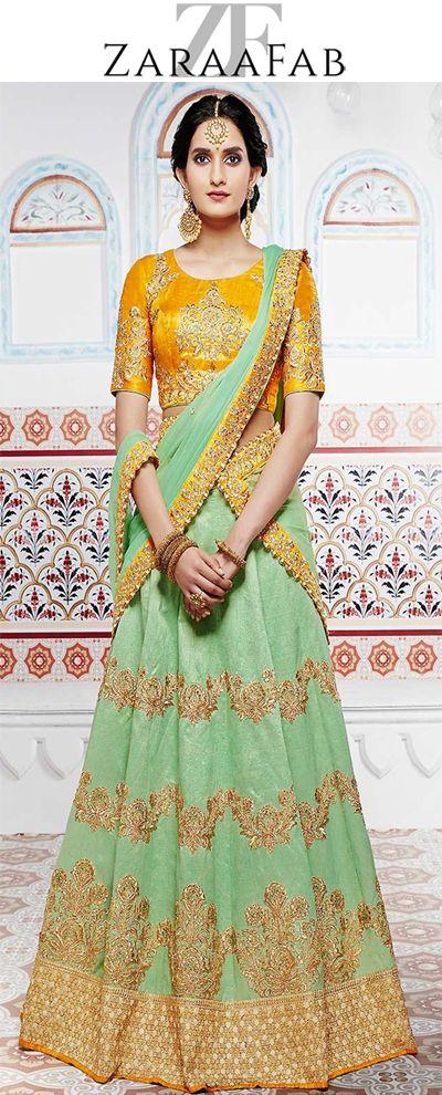 Buy stylish designer bridal lehenga choli and ghagra choli online in in uk with best fabrics at ZaraaFab online shopping store.  #bridalenghas #lenghacholi #bridal #suits #ethnicwear #indianwedding #bridallook #bridalwear