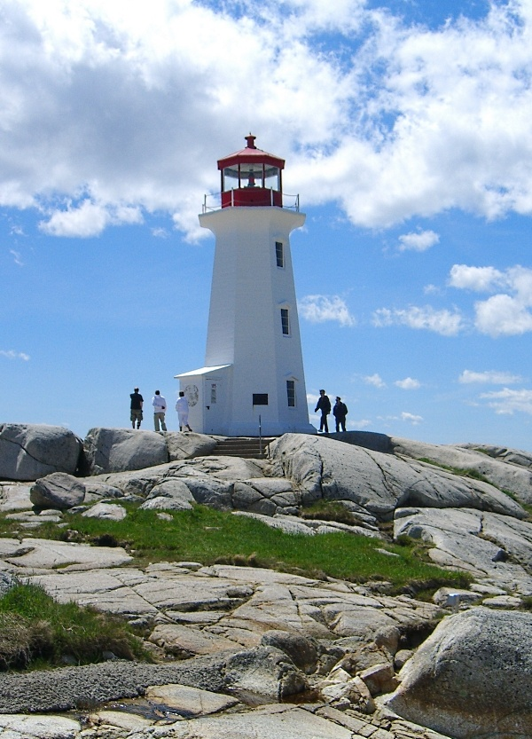 Lighthouse at Peggy's Cove, Nova Scotia - see the travel slide show at cruisesuz.com
