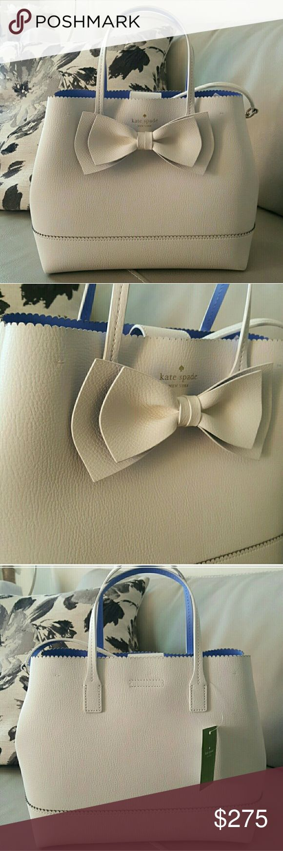New Kate Spade Bow Purse *NEW with tags! *Medium sized bag, size will be updated. *Very cute! - can become crossbody too. *Open to all REASONABLE offers! kate spade Bags