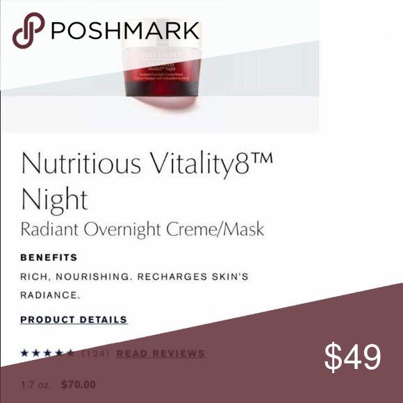 Estée Lauder nutritious radiant night  cream Overnight mask/cream. 50 ML. Brand new . Gift with purchase Estee Lauder Makeup