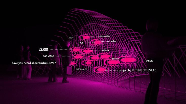 Datagrove Concept by Future Cities Lab   #architecture #Interactive #installation #publicArt #openframeworks