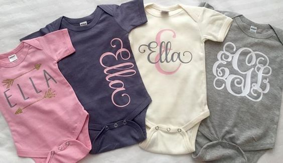 name/monogram onesie                                                                                                                                                                                 More