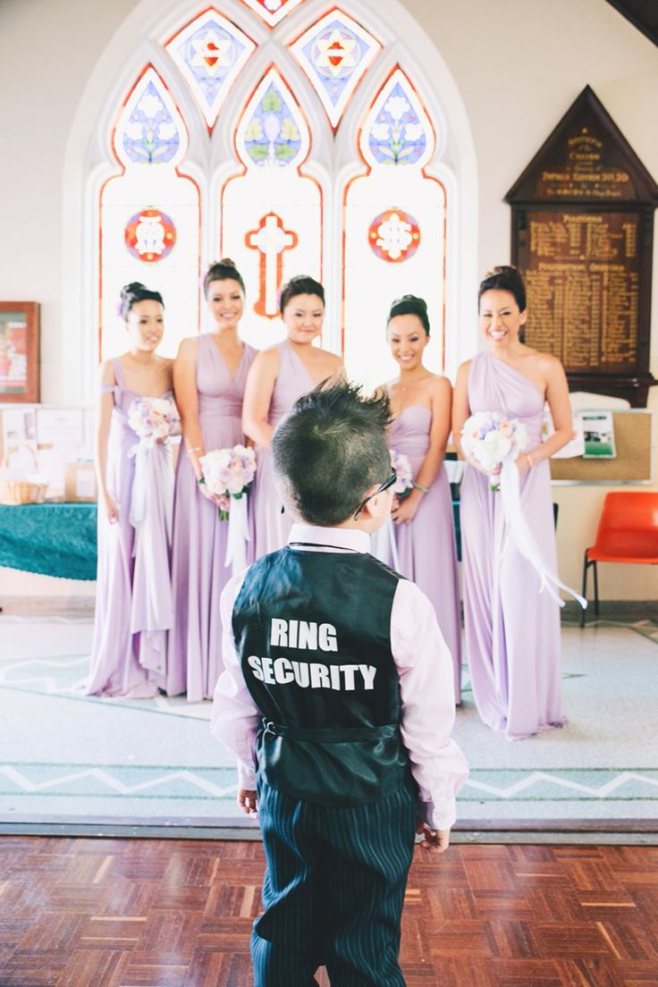 Cute 'Ring Security' vest for the little ring bearer | Chris and Jenna's Dreamy Lavender Wedding in Perth