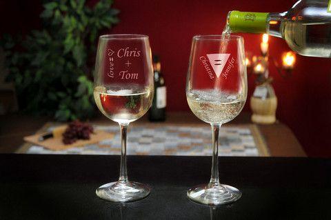 LGBTQ Tall Wine Glass Set