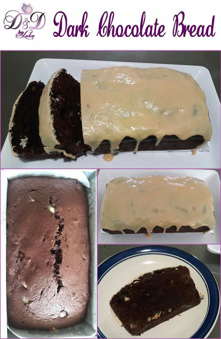 Dark Chocolate Beer Bread with Cream of Rum Frosting