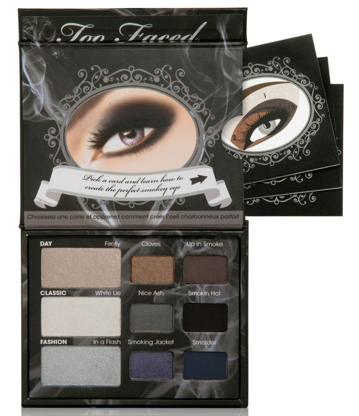 Too Faced - Smokey Eye Shadow Collection, is perfect for creating the bruised, hollowed-out look in a beautiful way. #spookybeauty #beautybridge