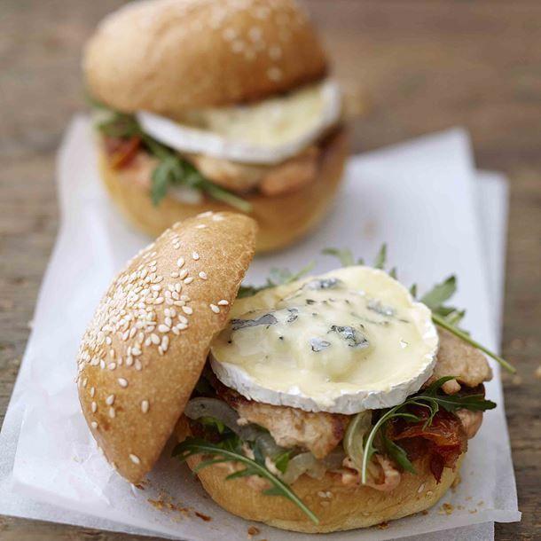 Italian burger au Bresse Bleu