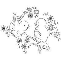 cute vintage bird embroidery pattern • »☜❁☞« •