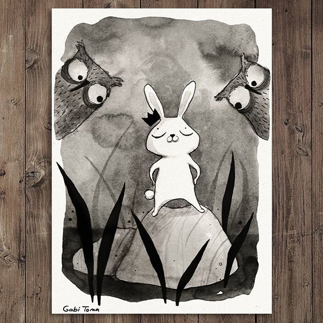 #Inktober day 14 There he is... proud...strong... #fierce... The Mighty Bunny... king of all beasts!