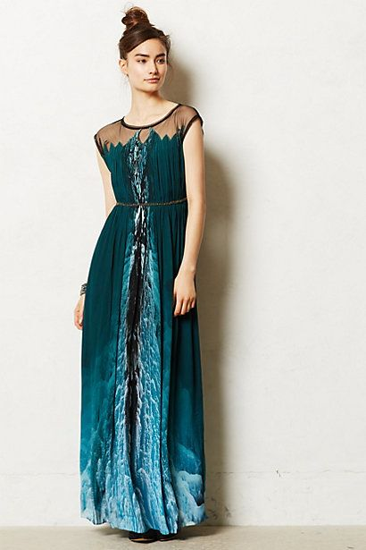 Icefall maxi dress anthropologie coolest dress ever and for Anthropologie mural maxi dress