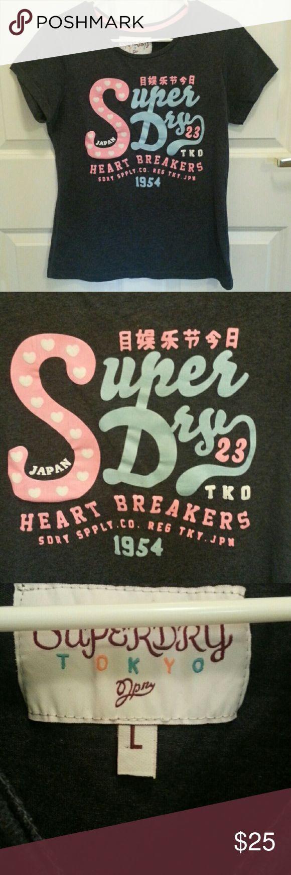 Superdry women tshirt Superdry women tshirt size large Superdry Tops Tees - Short Sleeve