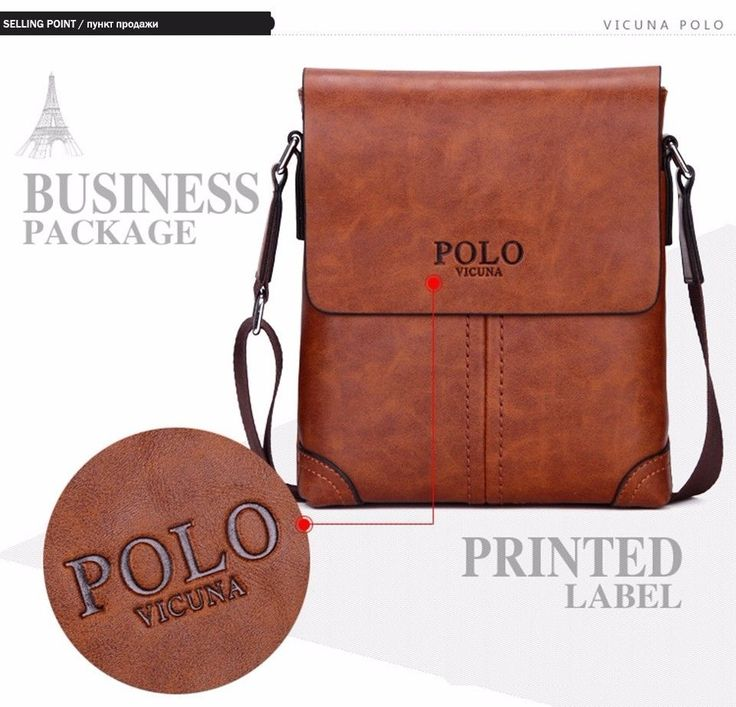 Leather Men Messenger Bags Vintage Famous Brand Business Casual Simple Bag  #POLO #MessengerShoulderBag