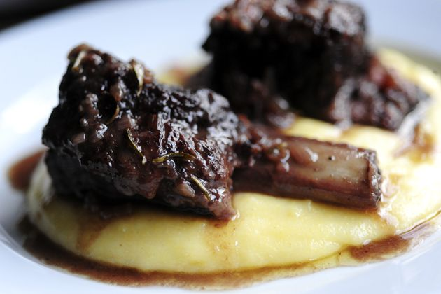 Creamy goat cheese polenta with braised short ribs - the pioneer woman