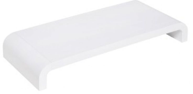Lavolta Elevated Monitor Riser Platform Shelf Stand for Apple iMac - White