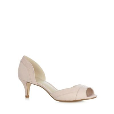 The Collection Light pink textured mid court shoes- at Debenhams.com