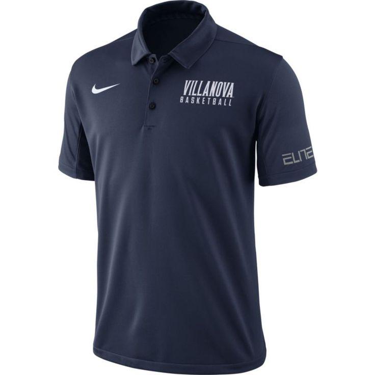 Nike Men's Navy (Blue) Villanova Wildcats Basketball Polo, Size: Small