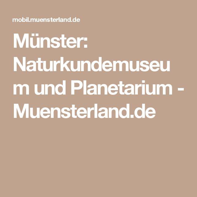 Münster: Naturkundemuseum und Planetarium - Muensterland.de