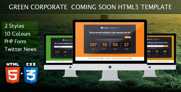 Green Corporate Under Construction Template