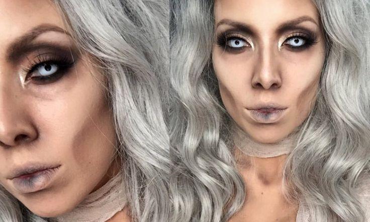 Glam Mummy Halloween Makeup