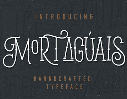 "Check out new work on my @Behance portfolio: ""Mortaguais Typeface"" http://be.net/gallery/37964029/Mortaguais-Typeface"