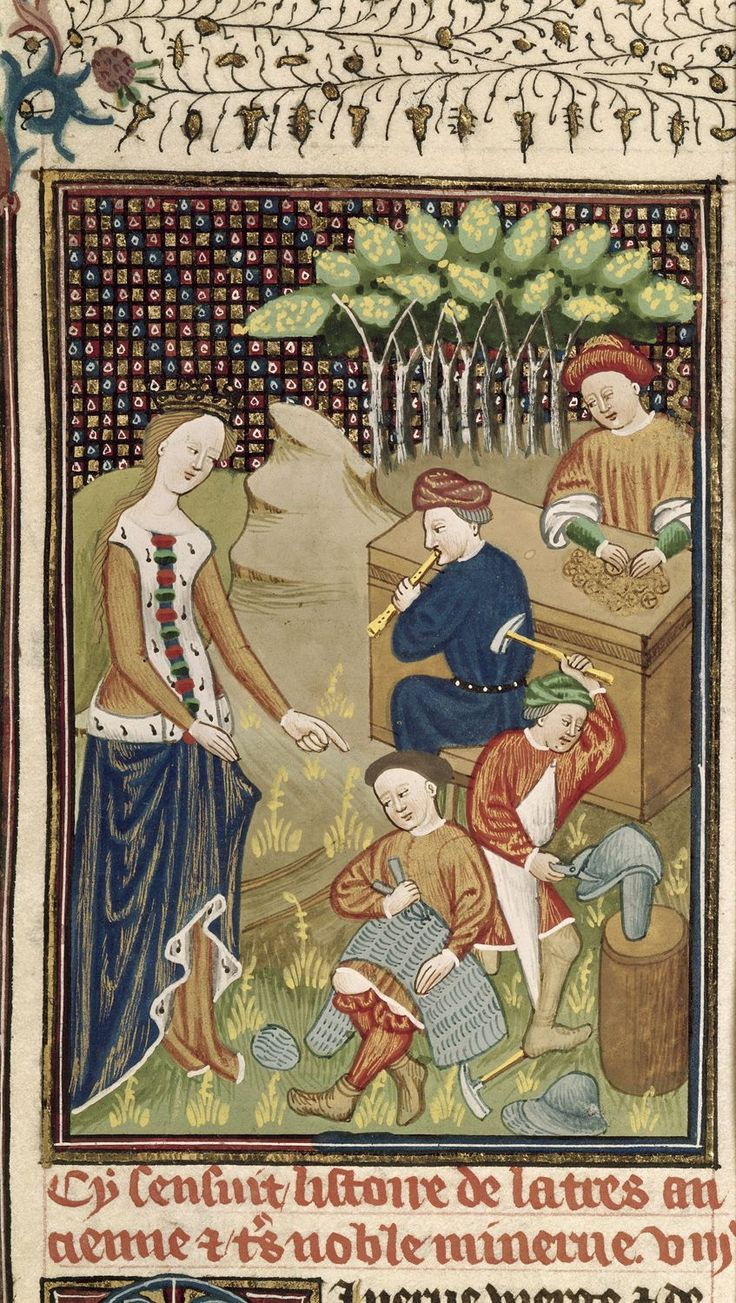 Author Giovanni Boccaccio Title De claris mulieribus in an anonymous French translation (Le livre de femmes nobles et renomées) Origin France, N. (Rouen) Date c. 1440 Language French Royal 16 G V f. 11 Minerva