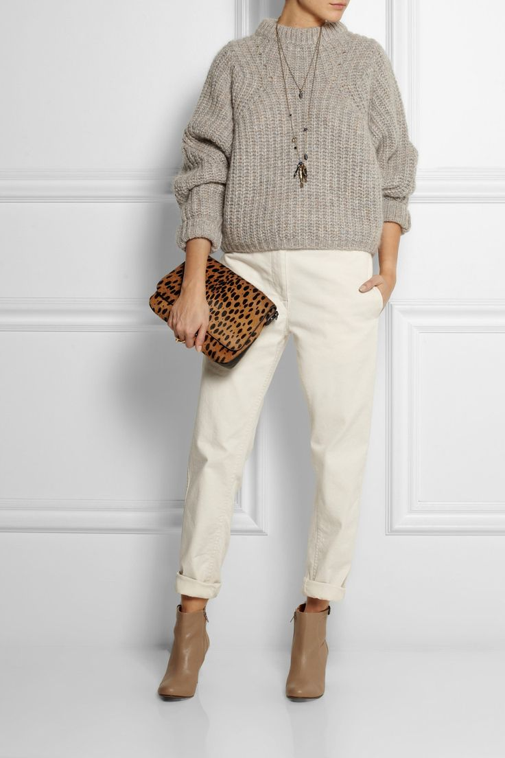 Isabel Marant | Newt oversized mélange ribbed-knit sweater | NET-A-PORTER.COM