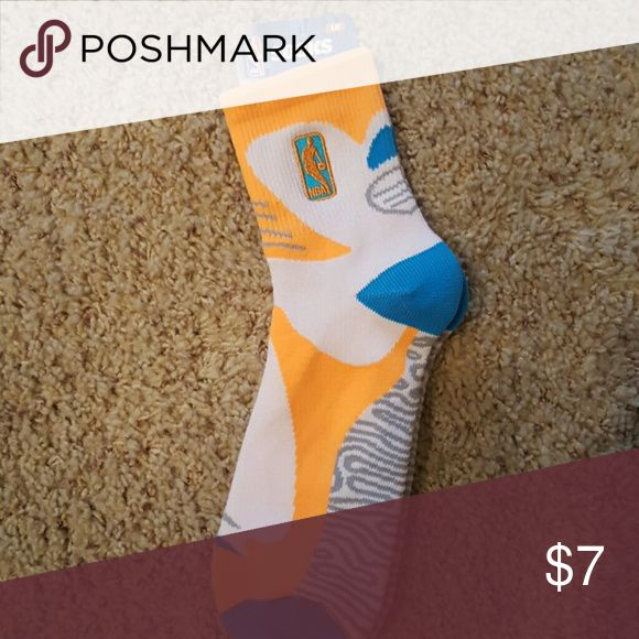 NBA socks size large NBA socks  neon orange and aqua blue men's 10-13 Underwear & Socks