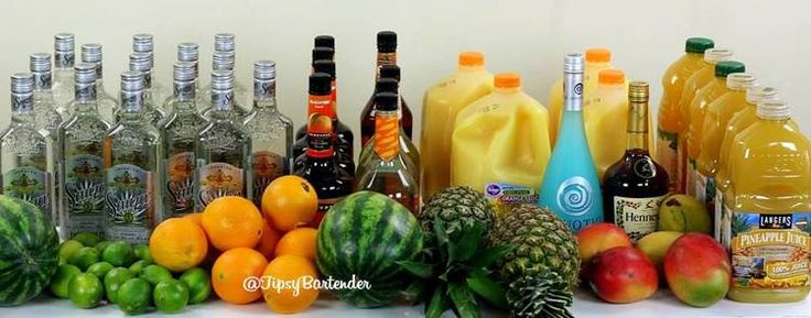Super Bowl Jungle Juice - For more delicious recipes and drinks, visit us here: www.tipsybartender.com