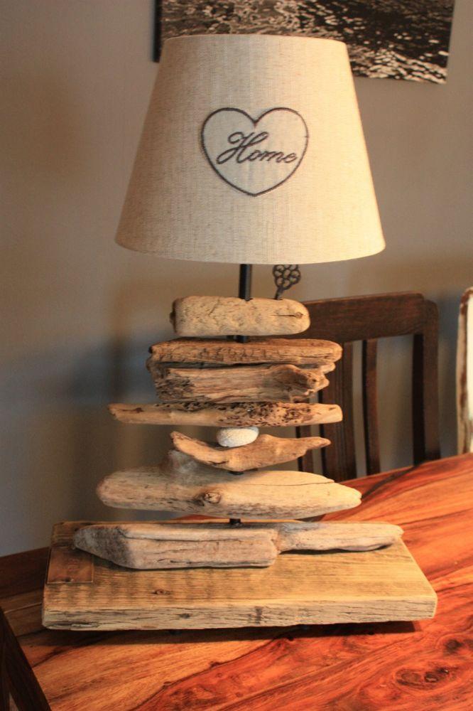 tischlampe aus treibholz strandgut handarbeit unikat aus. Black Bedroom Furniture Sets. Home Design Ideas