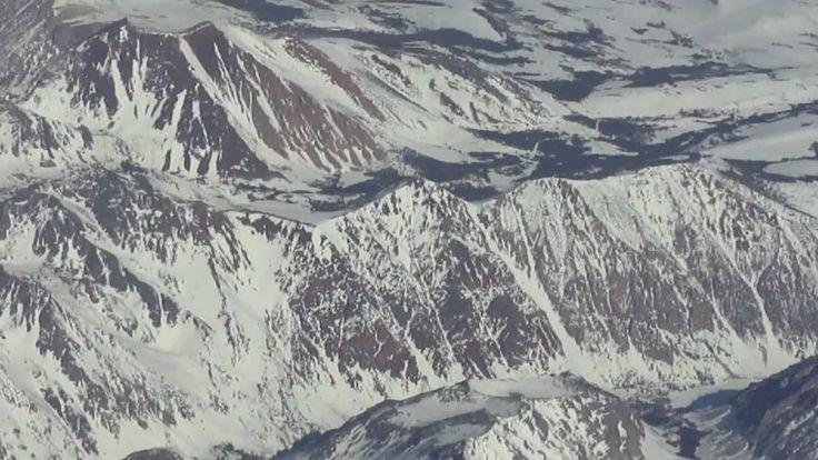 nice Denver - San Francisco flight #1: Takeoff, Rockies, Yosemite, San Joaquin Valley fog deck 2011-01-19