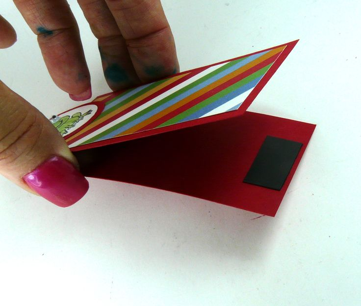 magnetic book mark - lots of sample and measurments, uses scraps, fast and easy