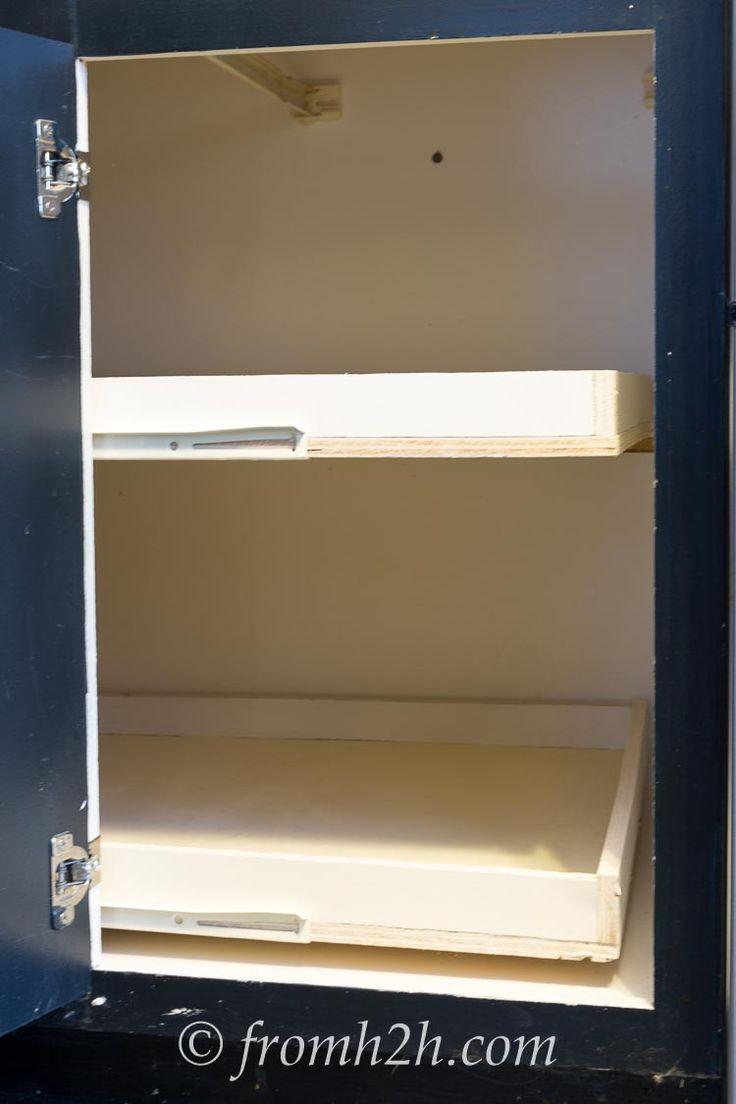 how do i build sliding shelves