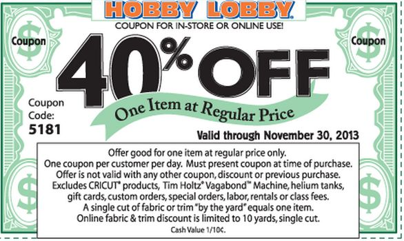 Pictures - Hobby Lobby Black Friday Ad Scans and 40 percent off coupon 2013 - National Sales & Deals | Examiner.com