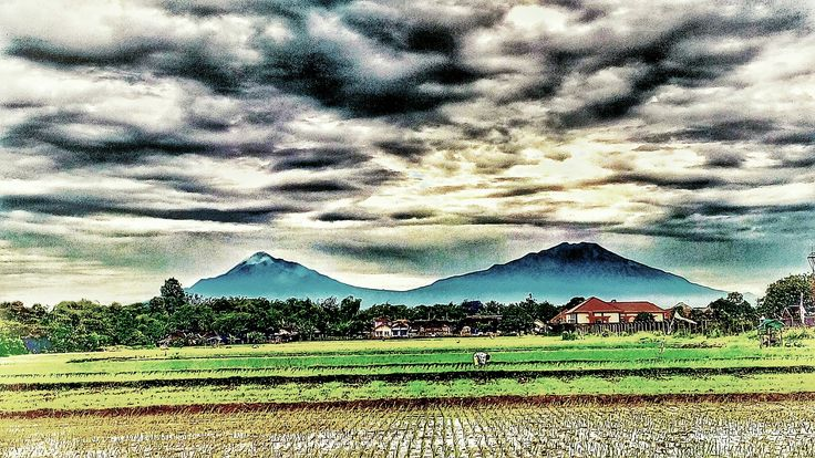 Merapi and Merbabu Mountain