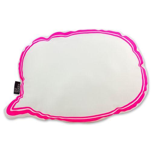 Speech Bubble Softie Cushion Pink   Krinkle Gifts