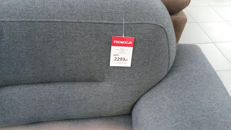 Przeceniona kanapa narożna w Black Red White