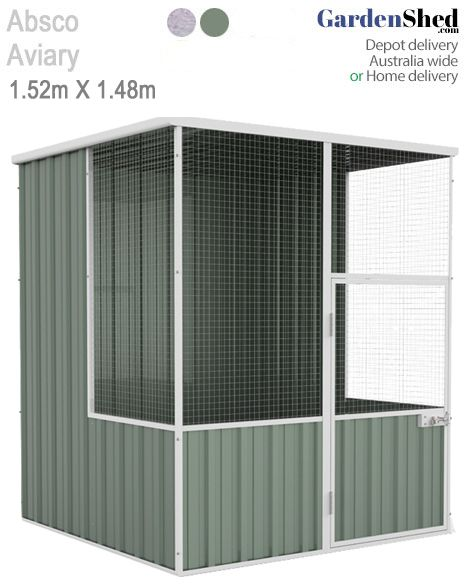 This ABSCO Aviary bird cage measures 1.52m x 1.48m and comes with thick mesh that is tough.