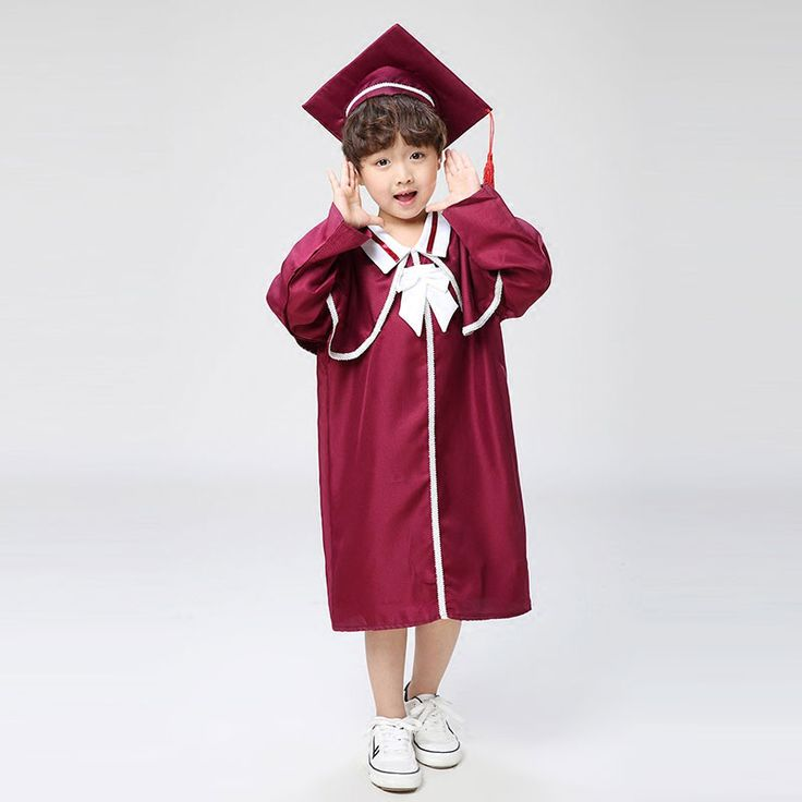 Children Student Performance Academic Dress for Girls Boys Dr. Cloth Graduated Suit Dr. Cap Kid School Uniform For Girls Boys